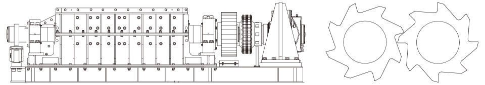Industrial waste and large-size garbage crusher