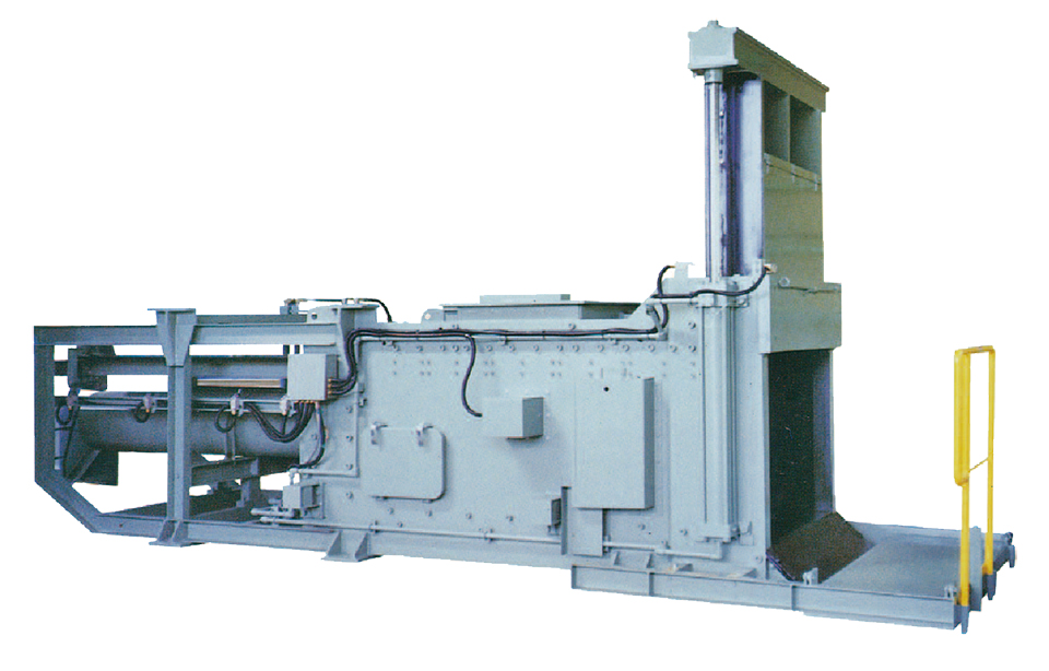 Pulper remnants dewatering press machine