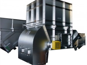 Large-size garbage push-feeding equipment