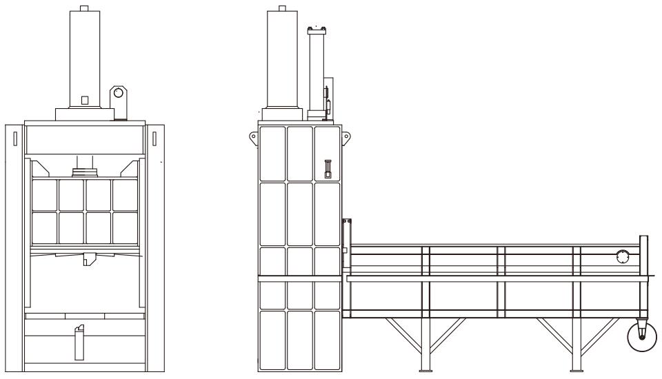 剪断式切断機のイメージ図