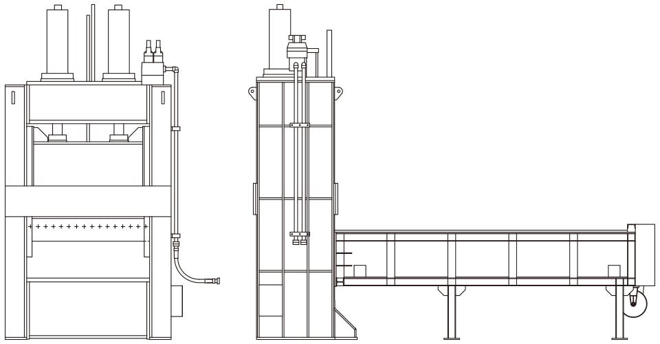 押切式切断機 機器イメージ図